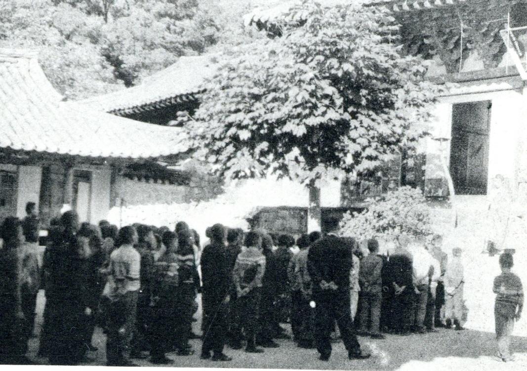 1967년 정안국민학교 학생들의 갑사 나들이 2