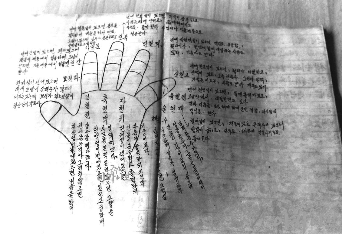 굿과 민간신앙 - 액막이 손 그림