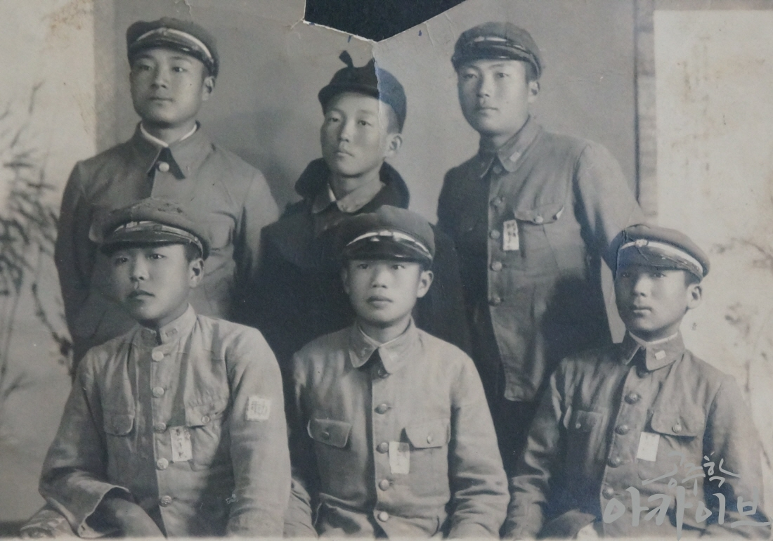 1940년 공주공립고등보통학교 학생들의 기념사진 1