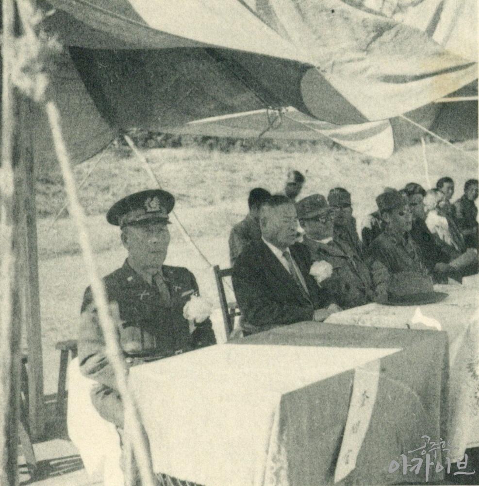 1954년 사대부고 육군 장교 방문 2