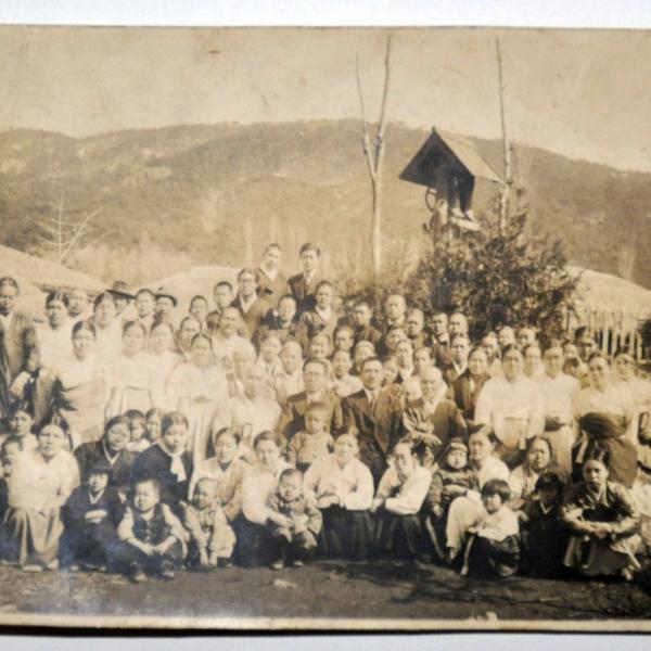경천감리교회 사경회 기념 단체 사진