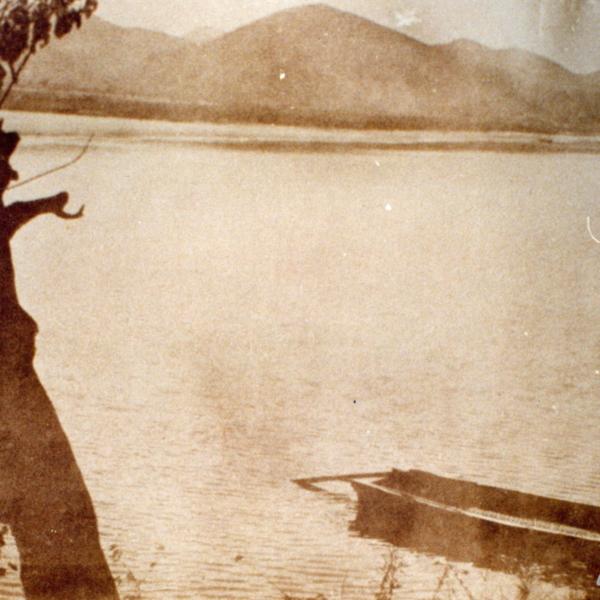 금강과 나룻배의 모습