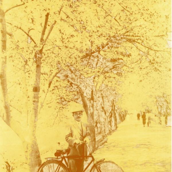 벚꽃터널 앞에서 서덕순
