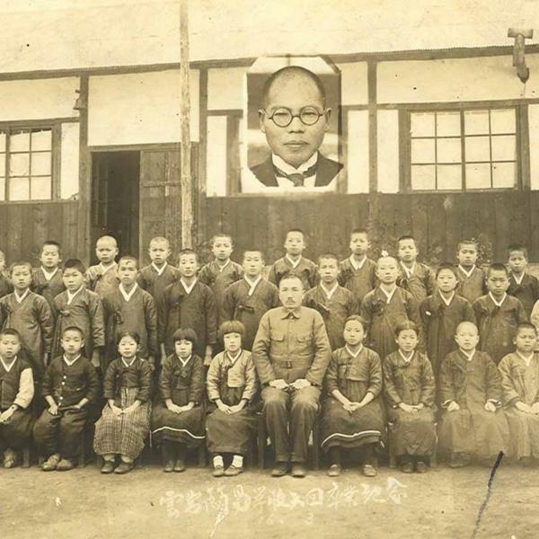 운암간이학교 제6회 졸업사진