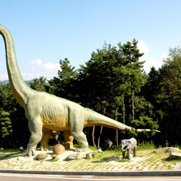 계룡산 자연사박물관 야외 전시장 전경